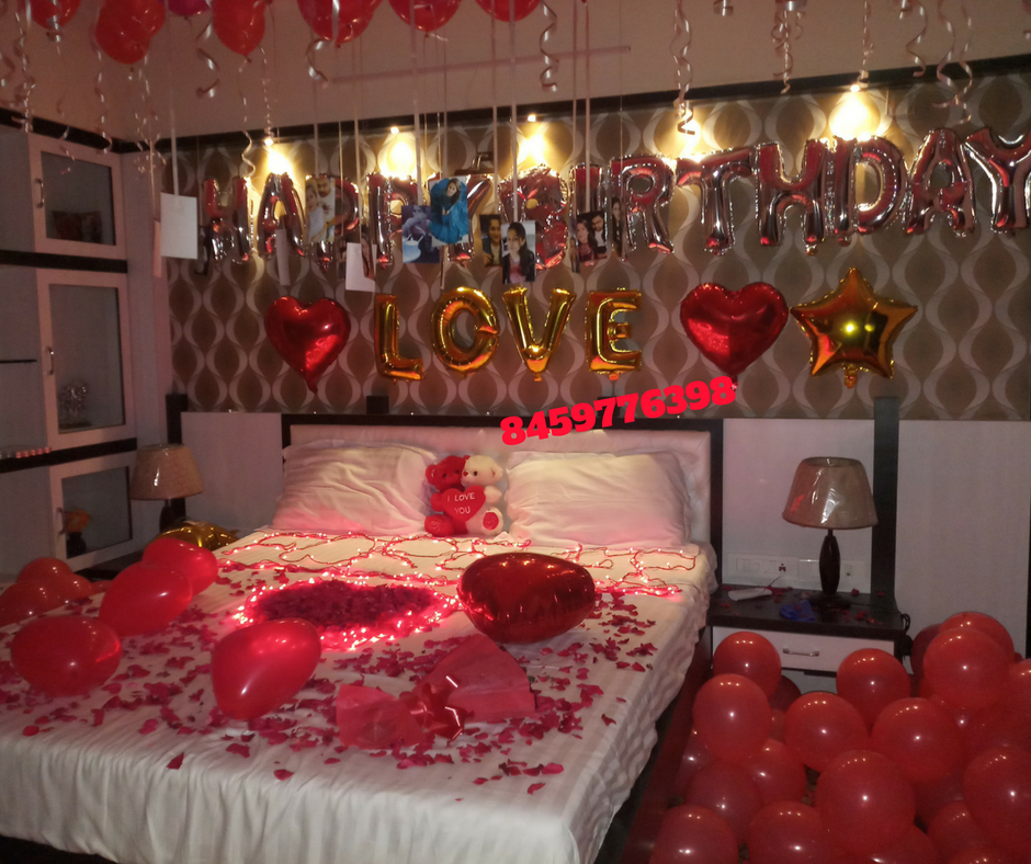 House Decoration Stores: Romantic Room Decoration For Surprise Birthday Party In
