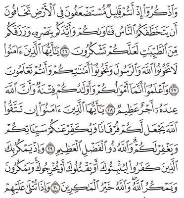 Tafsir Surat Al-Anfal Ayat 26, 27, 28, 29, 30