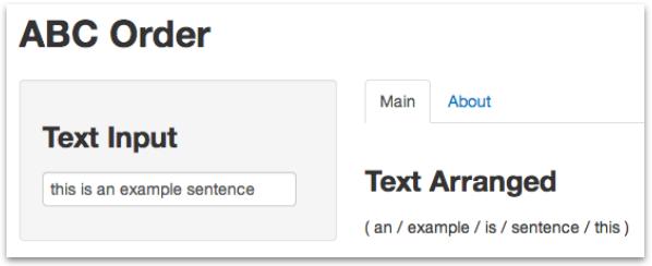 Le Chat Blanc: [R] 英文をabc順に並べ替えるウェブ・アプリ