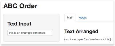 R] 英文をabc順に並べ替えるウェブ・アプリ