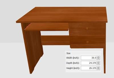 ukuran standard meja blajar anak