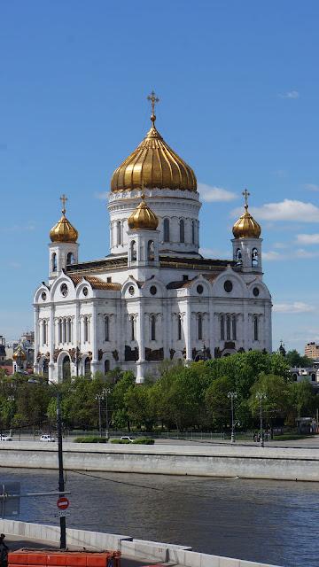 Фото Храма Христа Спасителя, вид с Большого Каменного моста