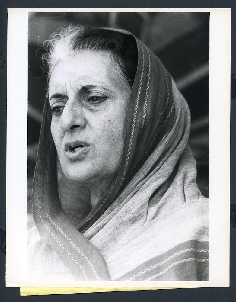 Portrait of Indira Gandhi - 1978