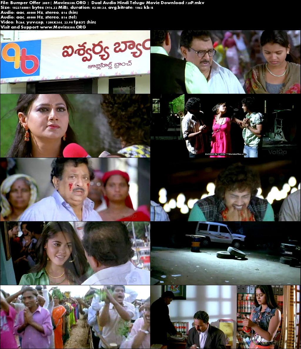 Bumper Offer 2009 Dual Audio Hindi Telugu Movie Download at movies500.site