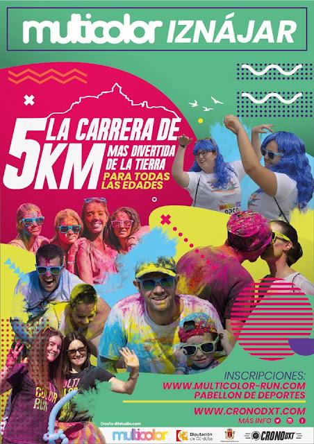 Carrera multicolor en Iznájar