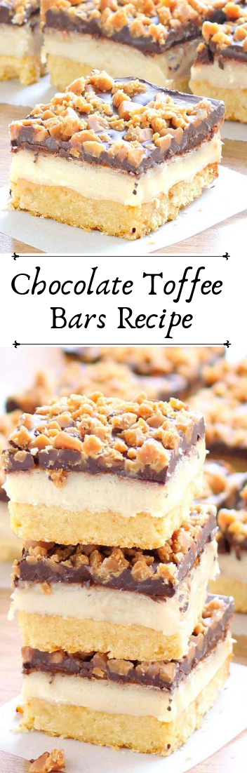 Chocolate Toffee Bars Recipe#cakerecipe #chocolate