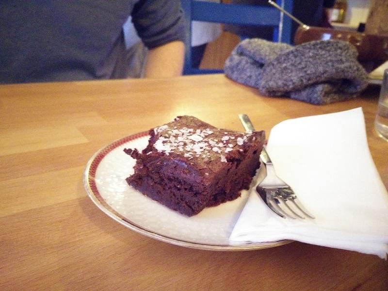Salted gooey chocolate brownie