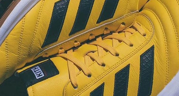 buy online 4af99 700a6 The new yellow Adidas Cobra Team boot is set to be released on June 2  2017 as part of the Adidas x Kith collection.
