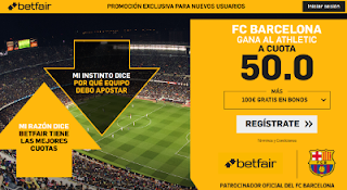 betfair supercuota Barcelona gana Athletic 10 febrero 2019