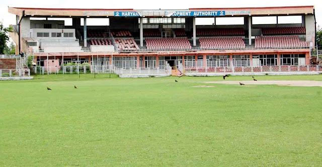 India-Sri Lankan's international cricket match will be held at the Nahar Singh Stadium on October 22