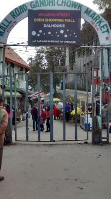 Gandhi Chowk market, Dalhousie