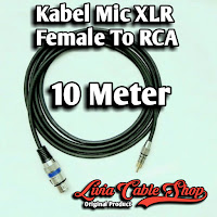 Kabel Mic XLR Female To RCA