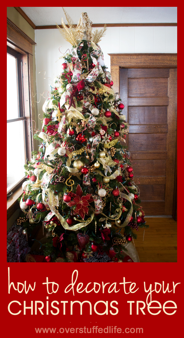 how to decorate Christmas tree like a professional with step by step tutorials on how to put ribbon on beautifully, when to put on the ornaments,  how to put the Christmas tree lights on properly and more. You will have the most gorgeous tree ever when you follow these steps!