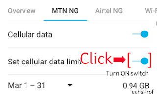 Set Cellular Data Limit