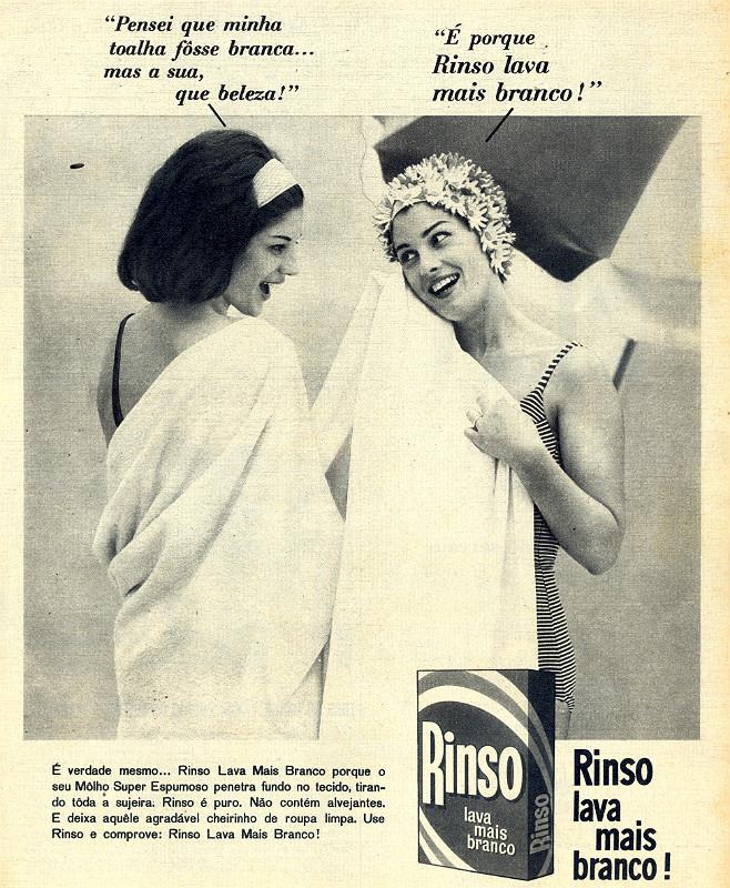 Campanha veiculada nos anos 60 para promover o Sabão em Pó da marca Rinso