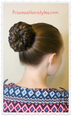 Easy updo tutorial. Pinwheel bun shortcut.