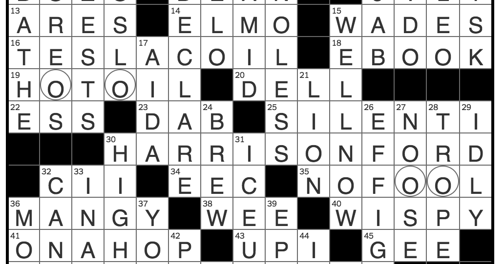 Rex Parker Does the NYT Crossword Puzzle: Tragic clown in