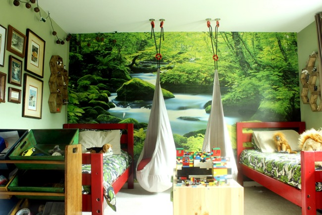 ... Any Boy Would Flip Over This Forest Themed Bedroom. Those Hanging  Chairs Alone Have Got To Be The Source Of Endless Fun For Gretchenu0027s Lucky  Two Boys.