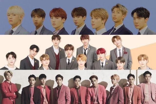 Daftar Boygroup Dengan 'Brand Reputation' Terbaik Bulan Oktober 2018