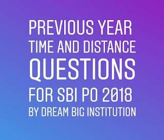 Time And Distance Question of Previous Year for SBI PO/Clek 2018