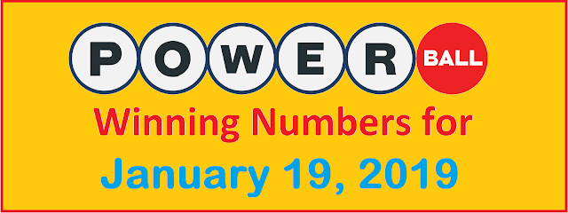 PowerBall Winning Numbers for Saturday, 19 January 2019