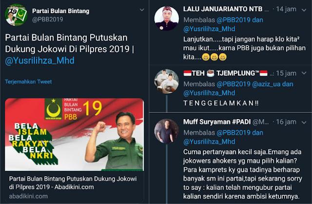 PBB Putuskan Dukung Jokowi di Pilpres 2019, Warganet Heboh Berkomentar