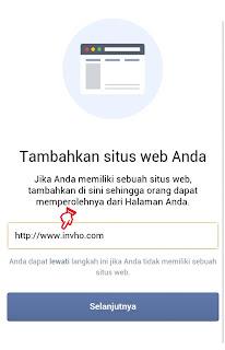 Alamat Situs Web Halaman atau Fanspage Facebook
