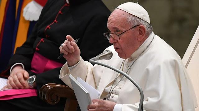 Papa critica a Europa y EEUU por su venta de armas para la guerra
