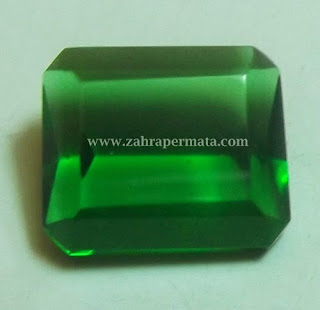 Batu Permata Green Tektite + Memo ZP 410