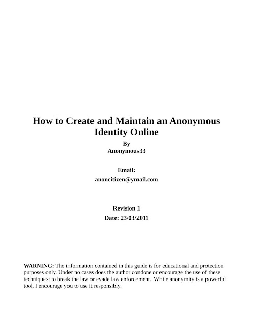 How to remain anonymous online - PDF for Free Download eBook
