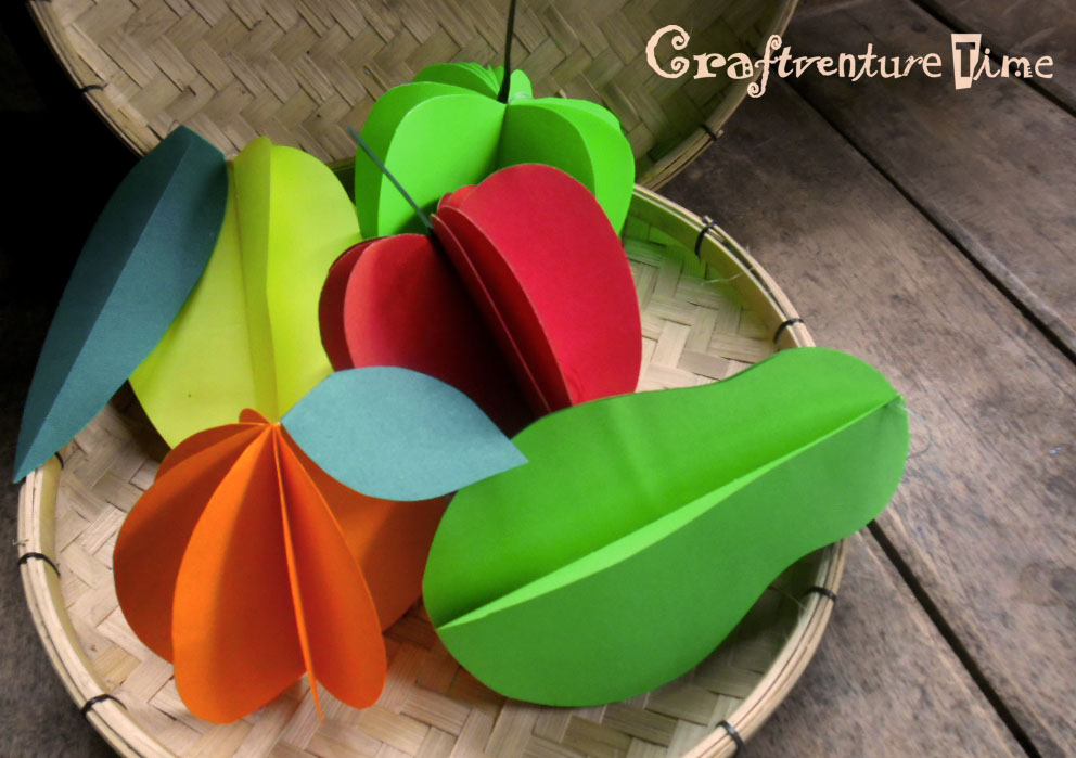 3d paper fruit craft craftventure time 3d paper fruits and vegetables 3299