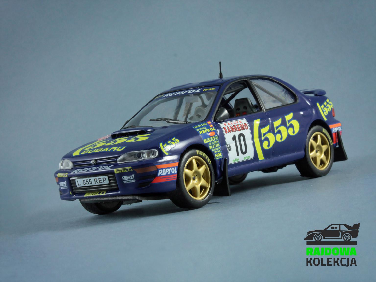 IXO Altaya Subaru Impreza 555 Rally Sanremo 1994