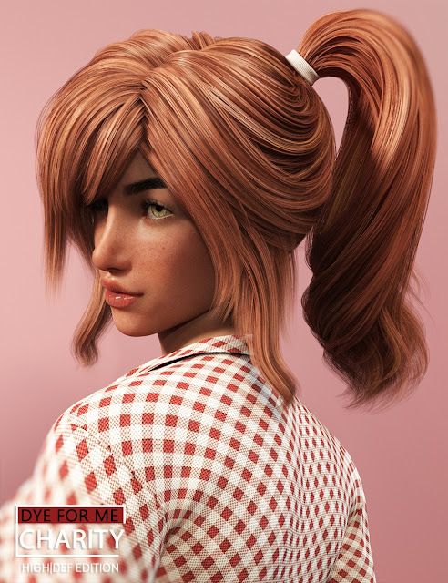 D4M Charity Hair HiRes for Genesis 3 Female