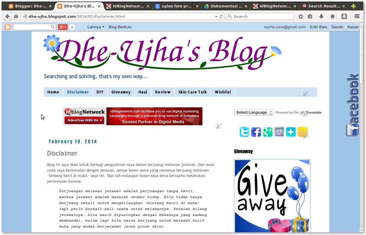 screen shot dhe-ujha's blog