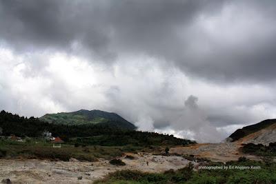 Kawasan Kawah Sikidang Dataran Tinggi Dieng.
