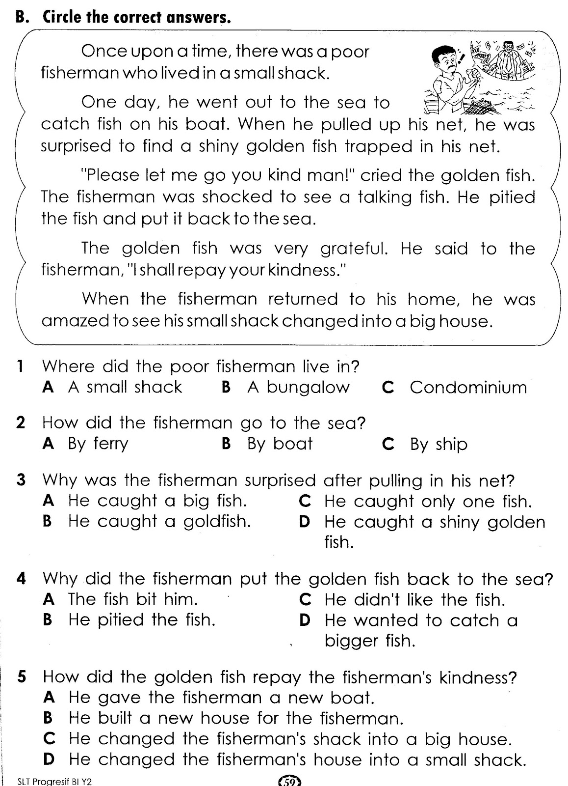 small resolution of Short Writing Activity Year 5 English Test
