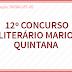 12º Concurso Literário Mário Quintana 18/Jul
