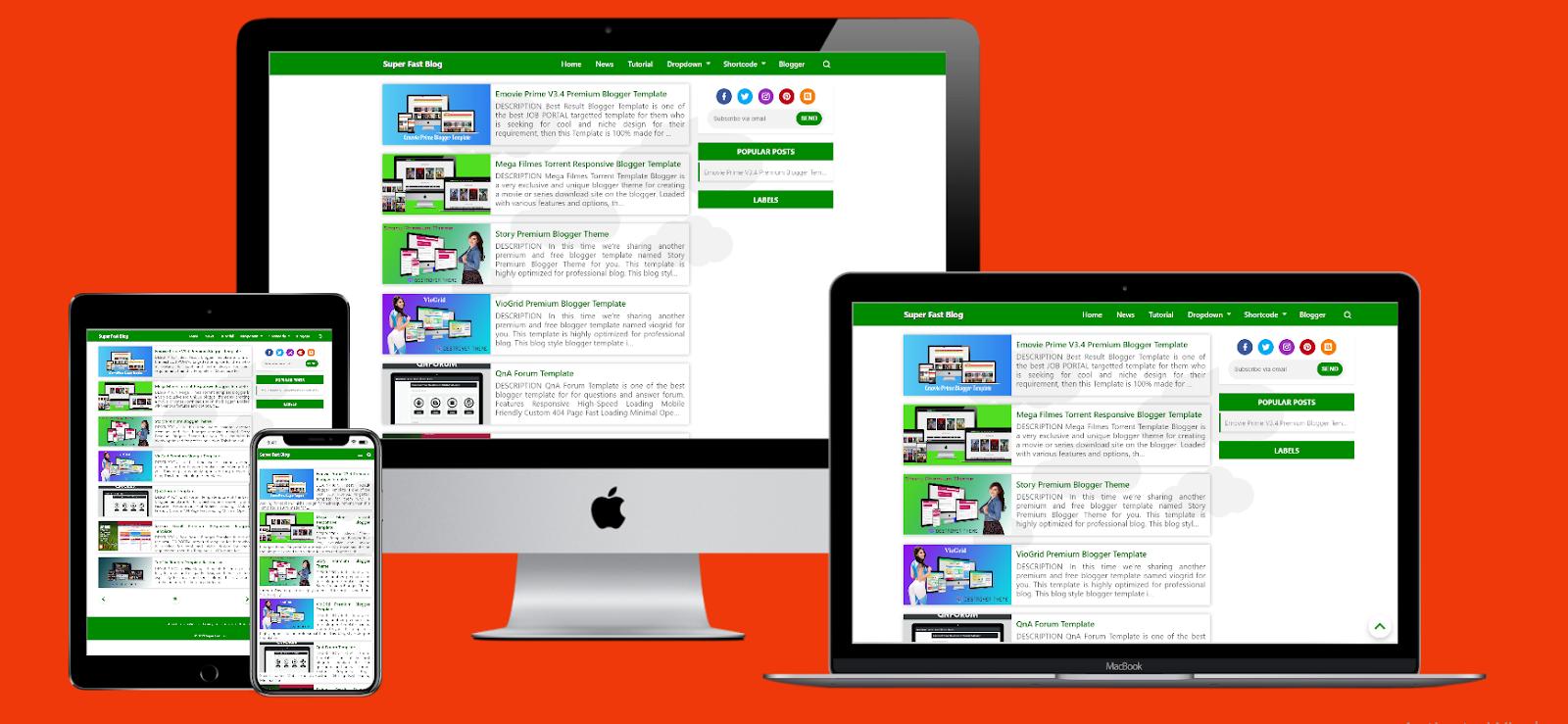 Super Fast Blog Premium Blogger Theme