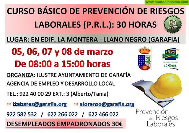 Curso Básico de Prevención de Riesgos Laborales (P.R.L.) en Garafía