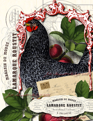 French Hens & Rooster Tutorial Jill Marcott-McCall For The Graphics Fairy Premium Membership