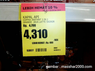 Harga di Supermarket Nggak Bulat