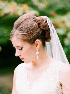 Inspírate en los mejores peinados de novia con velo 2018 y luce uno  - Peinados Para Novias 2017 Con Velo