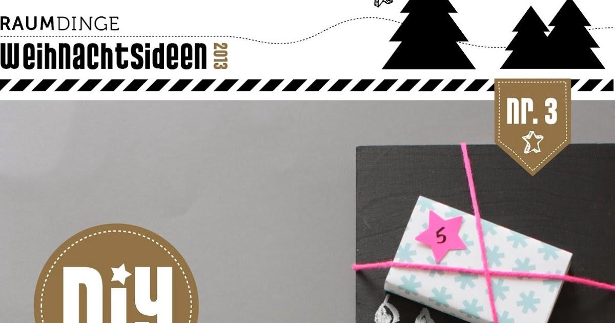 Raumdinge Adventskalender Geschenkebaum Mit Tafellack Und Neon