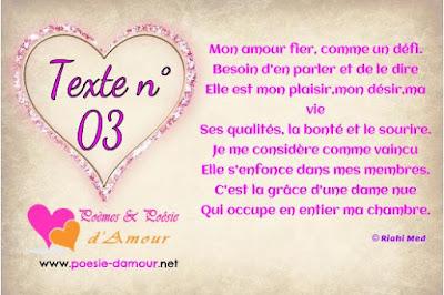 Parole d'amour romantique