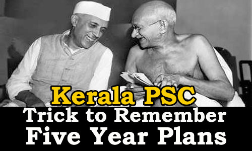 Trick to Remember Five Year Plan India