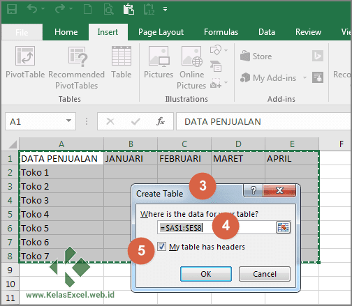 Tutorial Membuat Tabel Pada Microsoft Excel