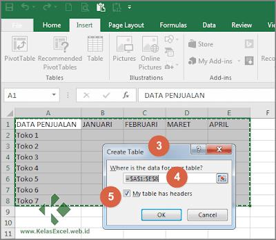 Cara Membuat Tabel Pada Microsoft Excel