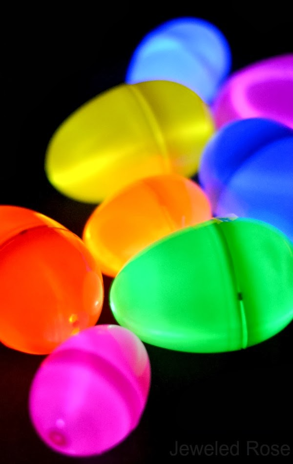 Two easy ways to set up a glow in the dark egg hunt; this is so fun the kids will be FLIP!