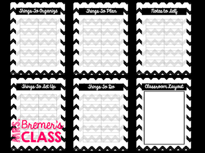 FREE Teacher planner to help you get organized for school!