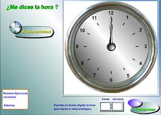Resultado de imagen de relojes interactivos
